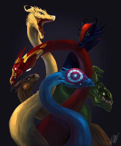 File:Avengers dragons by drawstillidie-d5dj3a8.jpg