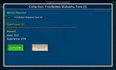 Collection-Frostedbitten Wabashu Foot