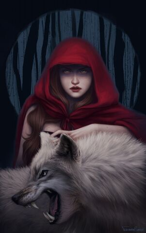 File:1006x1600 12886 Blood to bear me flowers 2d fantasy illustration red riding hood wolf girl picture image digital art.jpg