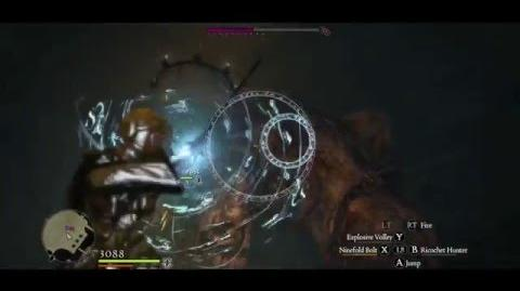 Magick Archer vs 2 Condemned Gorecyclops (using Ninefold Bolt)