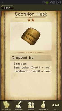 Scorpion Husk