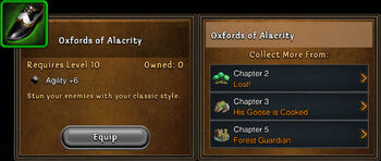 Oxfords of alacrity