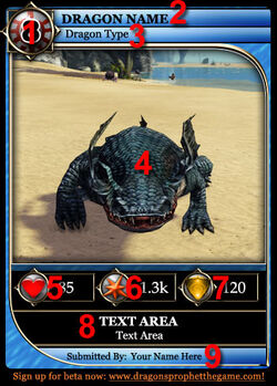 Dragon Card Water EXA