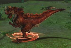 Furious Flecked Raptor Dragon