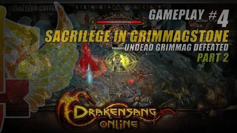 Drakensang Online Gameplay 4 P2 ★ Sacrilege In Grimmagstone Quest → Undead Grimmag Defeated