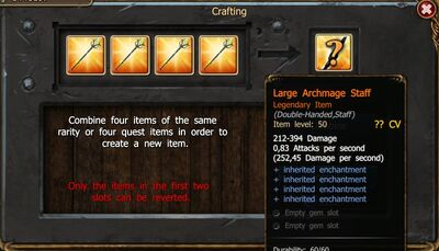 Crafting Leg Items Show Stats-0