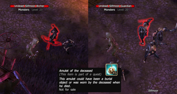 Undead skeletons amulet