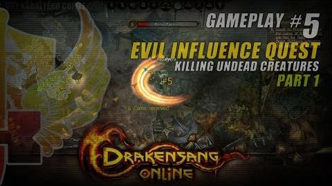 Drakensang Online Gameplay 5 P1 ★ Evil Influence Quest » Killing Undead Creatures