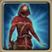 Crimson hunting costume