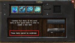 Quest Items No Craft