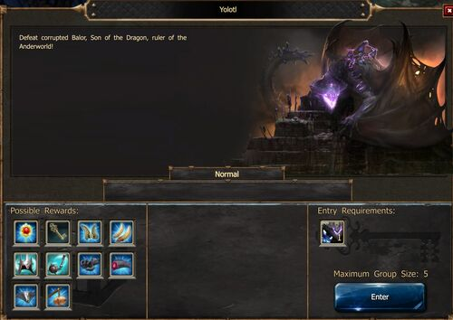 Yolotl DtU Screen