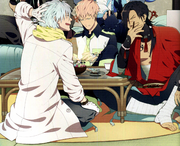 Clear and Koujaku laughing