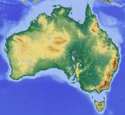 Reliefmap of Australia