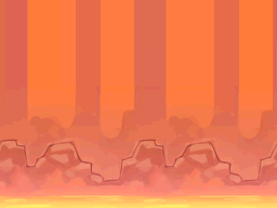 Volcanic Eruption Backdrop