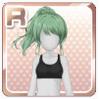 Triple-Braided Ponytail Green