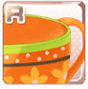 Pop-Art Teacup Orange