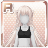 Side-Dango Hairstyle Silver
