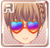 Colorful Heart Sunglasses Orange