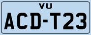 El Kadsre Vehicle Regestration Plate 1972
