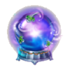 Crystal ball foreteller's shrine