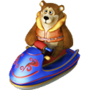 Bear on water scooter deco