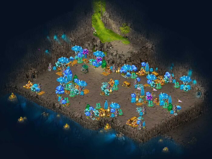 Treasure cave map