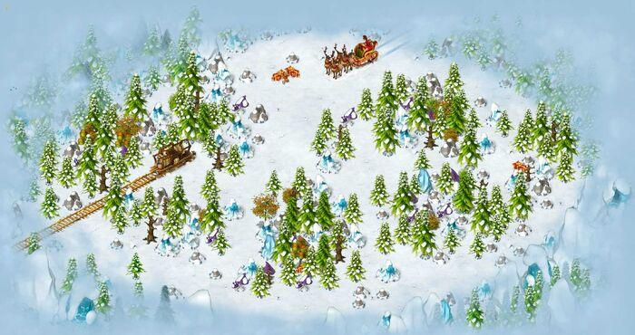 Polar land map