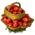 Basket of apples deco