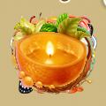 Coll christmas orange candle