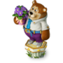 Bear with violets deco