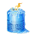 Coll candle azure