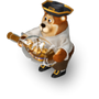 Bear with ship deco