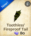 Toothless' Fireproof Tail