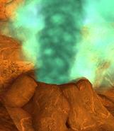 Armorwing geyser