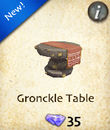 Gronckle Table