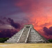 Castillo-red-purple sky*