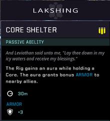 Core shelter gear