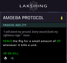 Amoeba protocol gear card