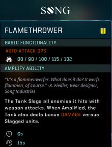 Flamethrower gearcard