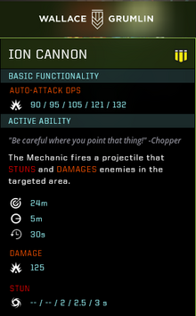 Ion cannon gear