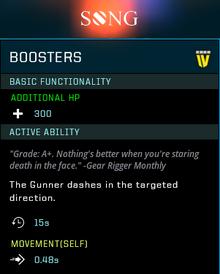 Boosters gear