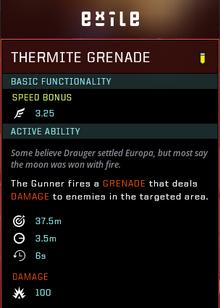 Thermite grenade gear