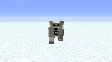 Polar bear chasing player