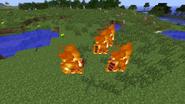 Golems burning