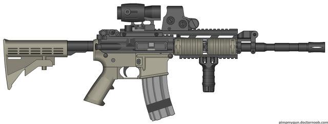 File:Colt m4a1 sirs modern warfare 2 hybrid sight mw3 by scarlighter-d4whaj1.jpg