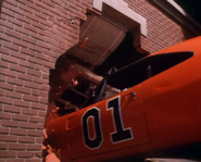 General Lee going through the hazzard courtroom.