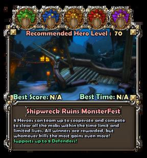 Shipwreckruinsmonsterfestcard