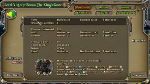 Kings game powerlevel end result