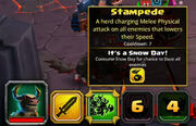 Tooltip Stampede modified by Snow day