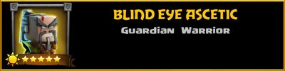 Profile Blind Eye Ascetic